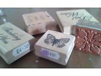nice collection of wooden stamps