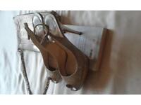 Authentic Jimmy Choo Shoes and Moschino Handbag Size 5