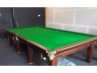 12x6 solid mahogany snooker table with steel cushions