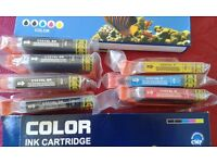 Seven unused ink cartridges, compatible with Canon Pixma MG5450/MG6350/IP7250/MX925