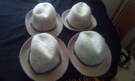 4 women's trilbys