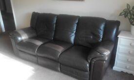 3 seater +2 Seater Leather sofas Dark Brown