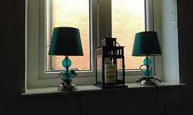 Two small bedside lamps