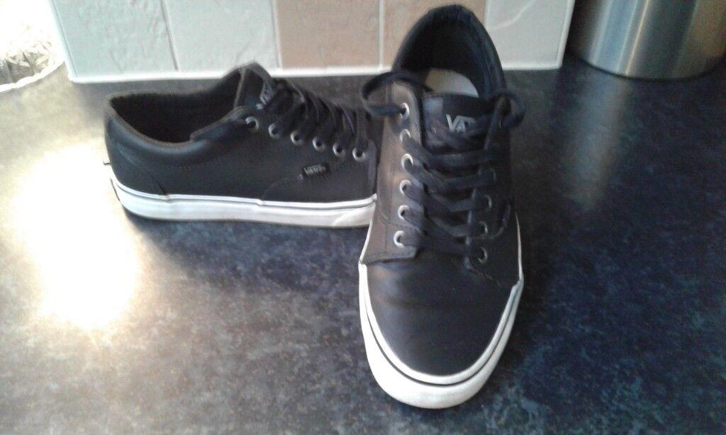 fd2601cc7cc4 Black leather vans