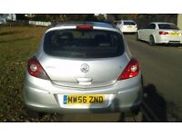 Silver vauxhall corsa design 3 door early 2007 for sale petrol.