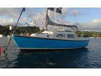 Leisure 22 bilge keel sailing yacht with 8hp mercury outboard