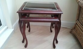 Mahogany nest of tables. Very good condition