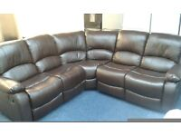 New corner sofa in brown leather