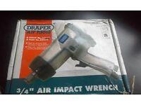 "Draper 3/4"" Air impact wrench square drive"