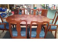 Oval Dining Table and six chairs