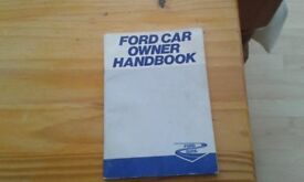 Ford owners hand book