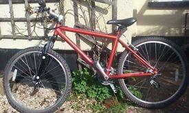 Raleigh Mountian Bike - 24 speed quickshift