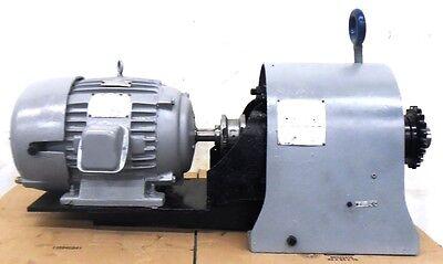 Us Electric Motor 7-12hp 254u Frame 9-1243-00-16 Falk Reducer 53-4ez2-06a6