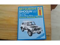 Mitsubisti Shogun workshop manual