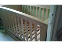 Mamas + Papas , Solid Wooden Cot.. £95.00..Free local delivery if required. .