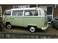 VW T2 BAY WINDOW CAMPER VAN. with drive away awning.