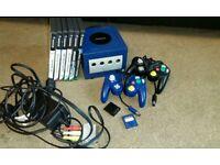 Nintendo Gamecube retro console with games