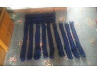 football socks navy (size 6-10)