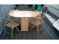 Butterfly table and 4 chairs