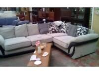 White stylish corner sofa