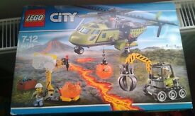 Lego City Volcano Supply Helicopter 60123 NEW