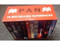 set of 10 pan paperbacks in presentation box as new