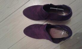BNIB Kate Appleby Purple Boots UK Size 7