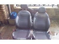 BMW mini half leather seats