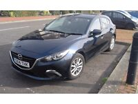 Mazda 3 SE 2014 with 12 months MOT and Tax, low mileage, full service history. Good condition.