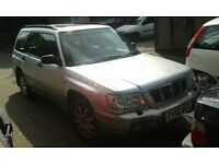 2002 Subaru Forester 2.0 AWD 5dr silver grey manual BREAKING FOR SPARES