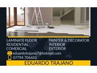 Professional painter decorator and laminate flooring