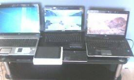 3 X laptops phones Wii console 2x pads