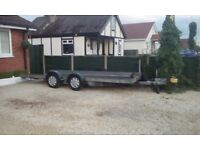 Brian James car transporter tilt trailer, excellent condition.