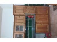 beautiful oak kitchen units with worktop.
