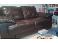 Two Seater Leather Sofa, For Free.