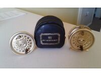 HARDY GOLD SOVEREIGN FLY REEL,SPARE SPOOL and HARDY CASE .HARDY FLY ROD