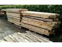 Timber pine posts
