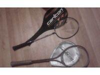 Selection of various squash raquets