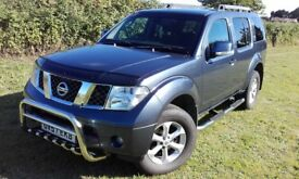 nissan pathfinder sport 2007 , low mileage,7 seater,full,history,tow bar,sat-nav part ex