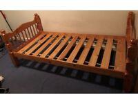 SOLID PINE SINGLE BED FRAME £30