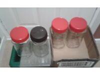 4 Coffee Jars