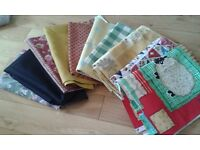 Selection of curtain and dress fabric