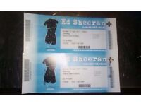 2 ed sheran tickets for 23rd April @ manchester arena