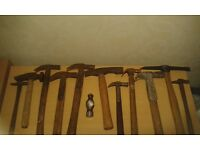 12x Vintage Engineers Claw Carpentry Hammers - RARE