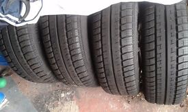 VW T5 alloy wheels and tyres , good condition