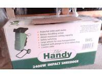 electric garden shredder...brand new still in its box. ideal gardening tool.