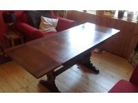 Ercol Extending Dining Table and 4 chairs - Dark Wood