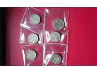 £1.00 COINS X 6