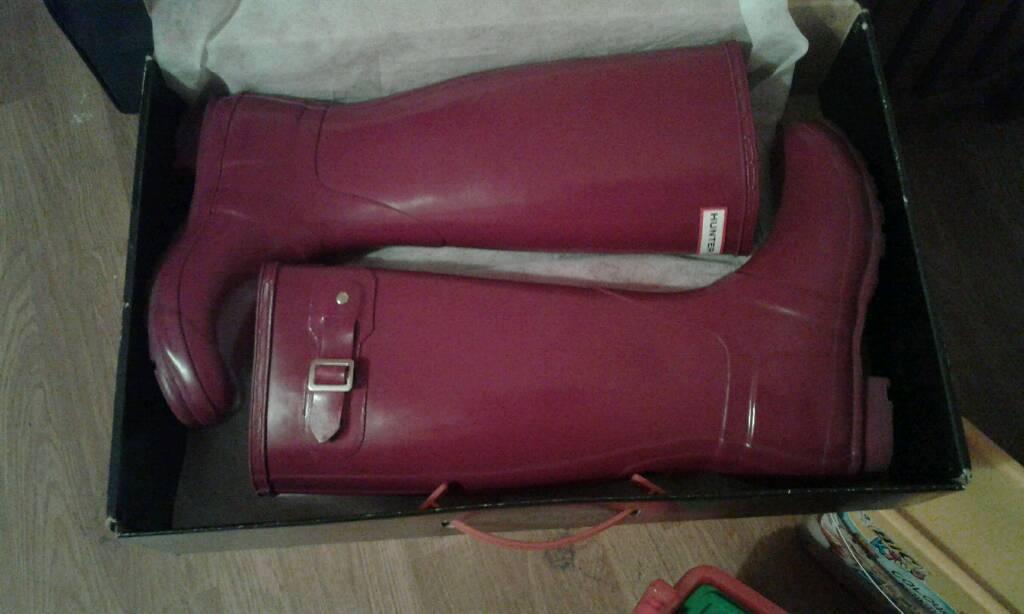 Ladies Tall Gloss Hunter Wellington Boots
