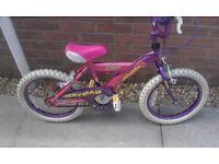 "Girls Chicago Crystal 16"" Wheel Bike Bicycle"
